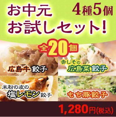 【新商品】お中元お試し用セット20個入りで餃子います(^_-)