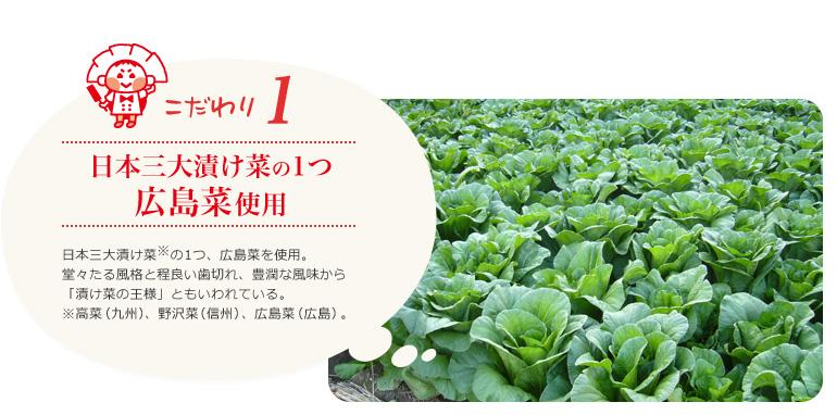 日本三大漬け菜の1つ広島菜使用