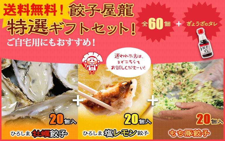 餃子家龍特選ギフトセット!