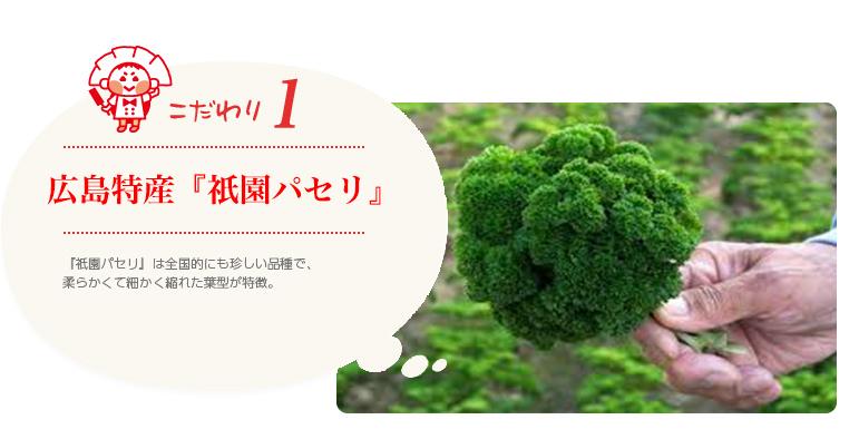 広島特産『祇園パセリ』