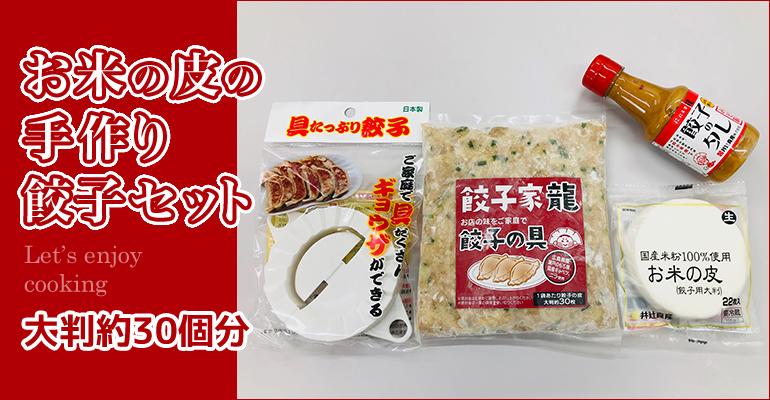 米粉の餃子皮の『餃子家龍』手作り餃子セット