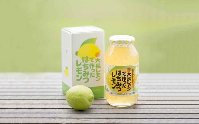 大長レモンで作ったはちみつレモン